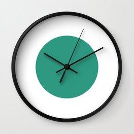 Go | Green Circle Wall Clock