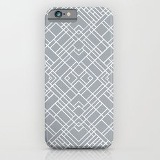 Map Outline 45 Grey Repeat Slim Case iPhone 6s
