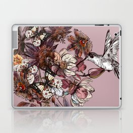 Tropical design with exotic flowers and hummingbird Laptop & iPad Skin