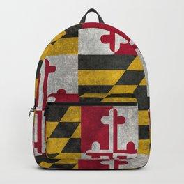 Maryland State flag - Vintage retro style Backpack