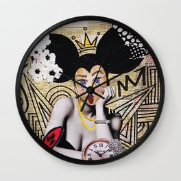 beauty is a payday pest Wall Clock