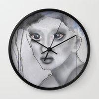 depression Wall Clocks featuring Depression II by katimarco
