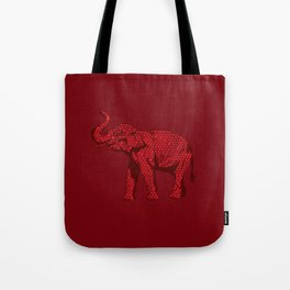 The Red Elephant Tote Bag