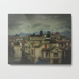 Kathmandu City Roof Tops - Architecture 03 Metal Print