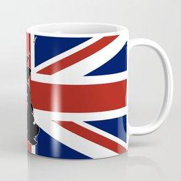 UK Silhouette and Flag Coffee Mug