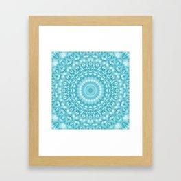 Caribbean Blue Mandala Framed Art Print