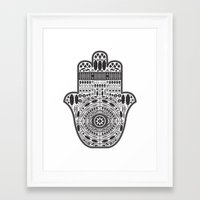 hamsa Framed Art Prints featuring Hamsa by Paint it graphics