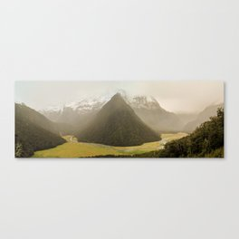 Grassy Mountain Valley, Routeburn Track, New Zealand Canvas Print