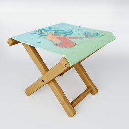 Monster Mermaid Pin-Up Folding Stool