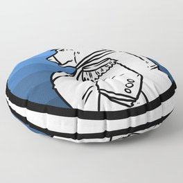 Seafarer adventure gift explorer conqueror Floor Pillow