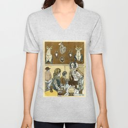 Taxidermy Cafe Unisex V-Neck