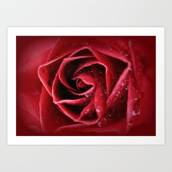 Love intensely from the heart... Art Print