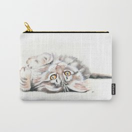 Cute Maine Coon Kitten Playing Carry-All Pouch