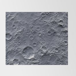 Moon Surface Throw Blanket