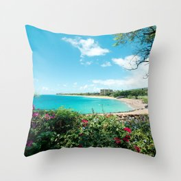 Kāʻanapali Beach Maui Hawaii Throw Pillow