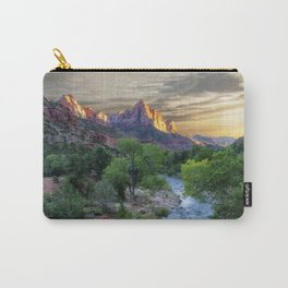 Sunset on the Virgin River - Zion National Park Carry-All Pouch