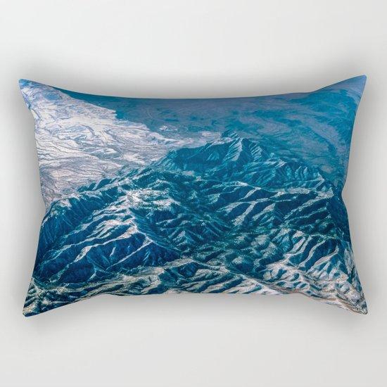 The Mountains Below Rectangular Pillow