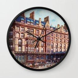 Vintage St Enoch railway station hotel Glasgow Wall Clock