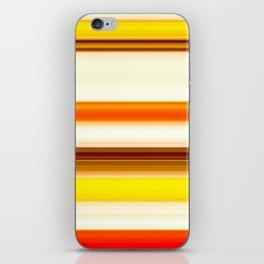 summer sunshine striped pattern iPhone Skin