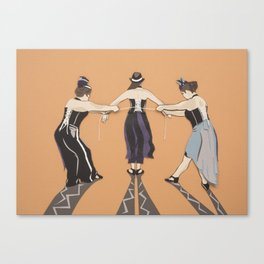 Corset Trio Canvas Print