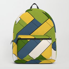Avocado yellow and blue rectangles Backpack