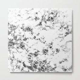 Black and White Wheat Metal Print