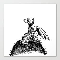 scyther dreaming about flight... Canvas Print