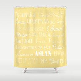 Narnia Celebration- shortbread Shower Curtain