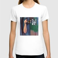 les mis T-shirts featuring Les Yeux  by Bruce Stanfield