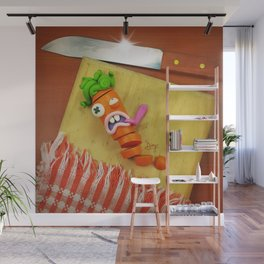 The murder of the carrot Wall Mural