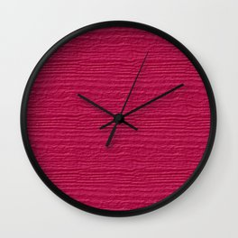 Raspberry Sorbet Wood Grain Color Accent Wall Clock