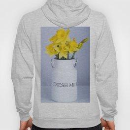 Daffodils in Fresh Milk Jug Hoody