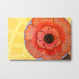 Hanging Flower Tops Metal Print