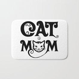 cat mom - Funny Cat Saying Bath Mat