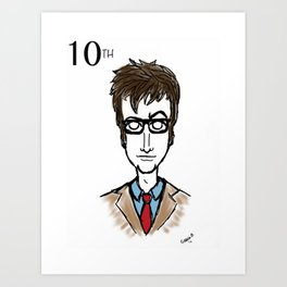 Doctor Who The 10th Doctor  Art Print
