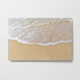 Beautiful wave surfing on a sandy beach Metal Print