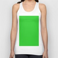 lime green Tank Tops featuring Lime green by List of colors