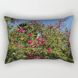 Summel close up tree flowers Rectangular Pillow