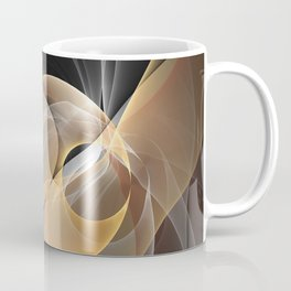 Brown, Beige And Gray Abstract Fractals Art Coffee Mug