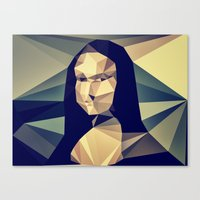 mona lisa Canvas Prints featuring :: mona lisa :: by Nico Vincentini