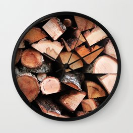 Timber Wall Clock