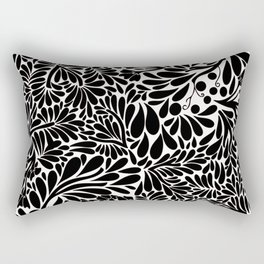 Abstract Jungle in Black and White Rectangular Pillow