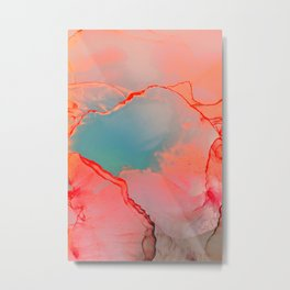 BETTER TOGETHER - LIVING CORAL by MS Metal Print