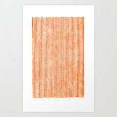 Stockinette Orange Art Print
