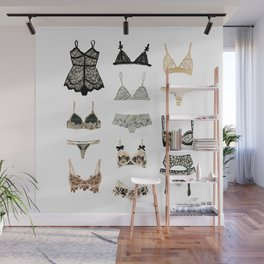 Lingerie Collage Wall Mural