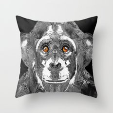 Black And White Art - Monkey Business 2 - By Sharon Cummings Throw Pillow