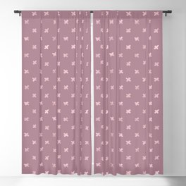 Metallic Mauve Grunge Crosses Blackout Curtain
