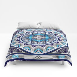Sacred Places Blue Comforters