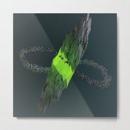 Gravitational Fracture Metal Print