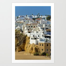 Albufeira old town, Portugal Art Print